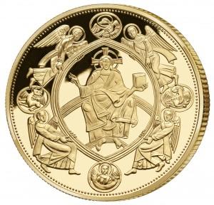 Pamětní medaile k 660. výročí korunovace KarlaIV. císařem - rub. Vydáno Národní Pokladnicí