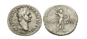 Denár císaře Domiciána