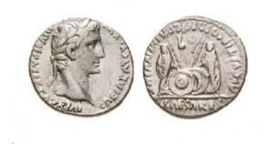 Historická mince z dob Augusta