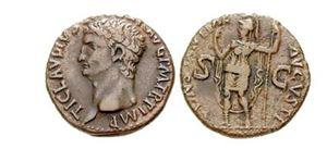 Římská mince s císařem Claudiem
