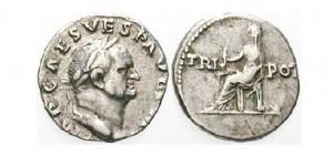 Denár císaře Vespasiana