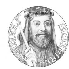 Návrh aversu pamětní medaile Karla IV.