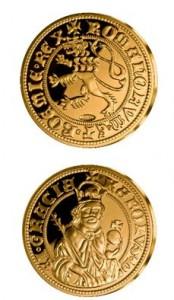 Replika dukátu Karla IV. z České repliky Národní Pokladnice