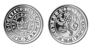 Replika pražského groše z kolekce České repliky Národní Pokladnice