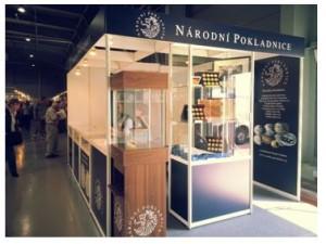 Stánek Národní Pokladnice na veletrhu Sběratel 2015