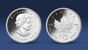 Stříbrná investiční mince Maple Leaf