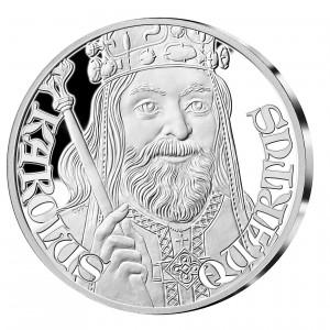 Stříbrná pamětní medaile Karel IV.