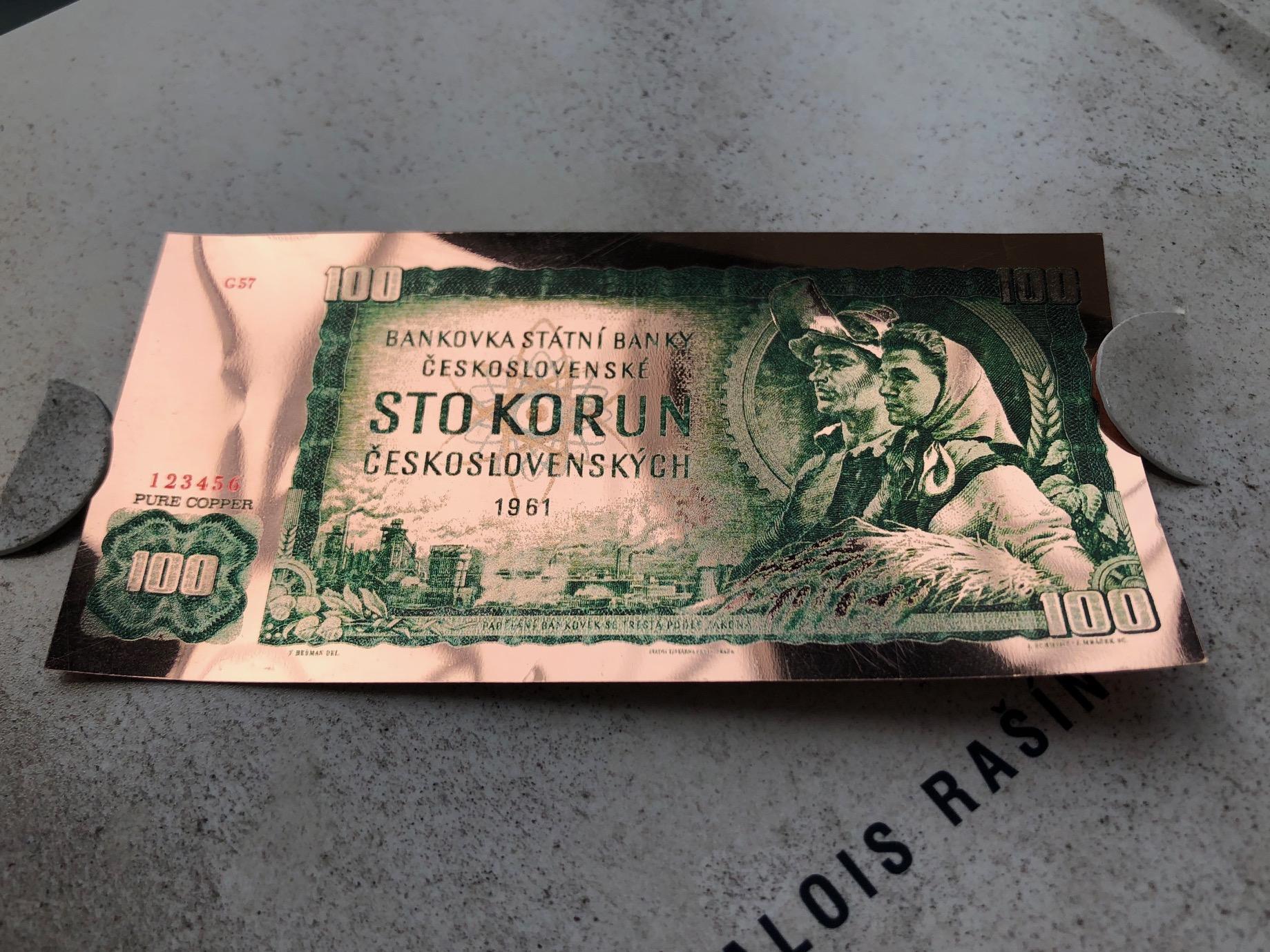 Legendární československá stokoruna